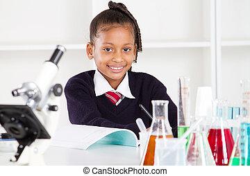 basisschool, pupil, vrouwlijk