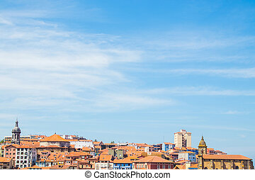 baske, bermeo, land, panoramisch, landschaftsbild, spanien