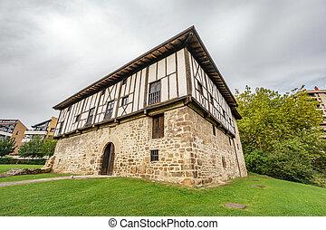 baske, haus, typisch, land