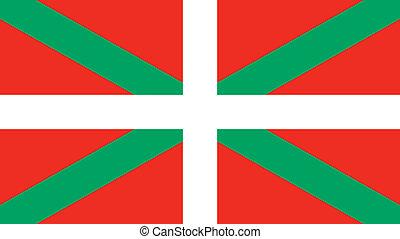 baske, land, fahne