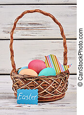 Basket and Easter card.