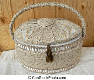 basket and sewing accessories for hobbies