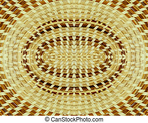 Basket background - Woven basket background design mirrored...