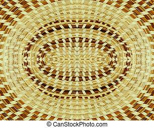 Basket background - Woven basket background design mirrored...