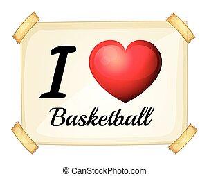 basket-ball, amour