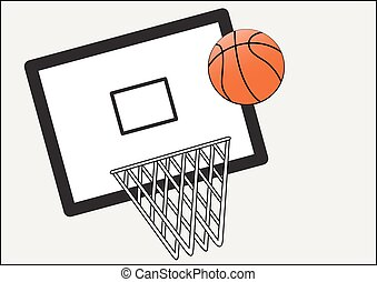 basket ball and net and board