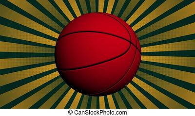 basket-ball, animé, retro, fond, faire boucle