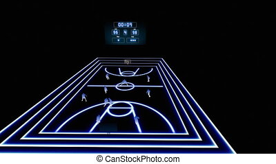 basket-ball, animation, 1