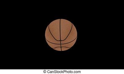 basket-ball, animation, balle, faire boucle, 1
