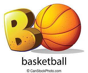basket-ball, b, lettre