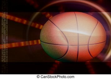 basket-ball, balle, tourner