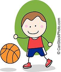 Basket ball boy player