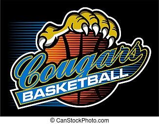 basket-ball, cougouars