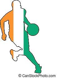 basket-ball, couleurs, ivoire cote