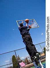 basket-ball, coup
