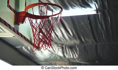 basket-ball, crossfit, cerceau, haut fin, gymnase