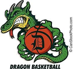 basket-ball, dragon