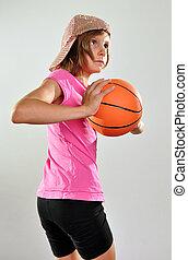 basket-ball, enfant joue