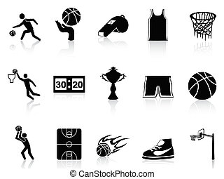 basket-ball, ensemble, icônes