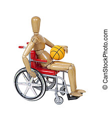 basket-ball fauteuil roulant