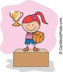 Basket ball girl