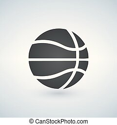 basket-ball, illustration, isolé, signe, vecteur, arrière-plan noir, icône