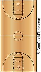 basket-ball, illustration, vecteur