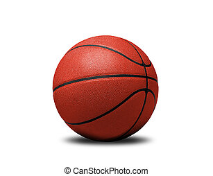 Basket ball isolated on white