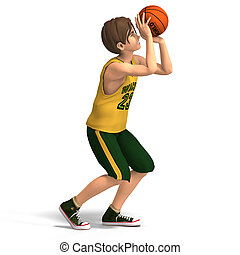 basket-ball, jeux, jeune homme