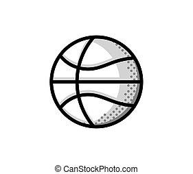 basket-ball, logo, américain, sports, symbole, et, icône