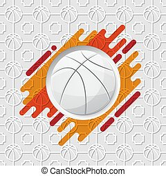 basket-ball orange, fond