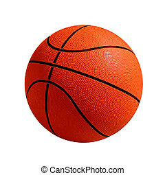 Basket Ball - Photo of one basket ball isolated in white...