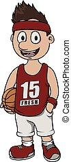 Basket ball player cartoon design