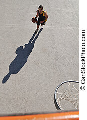 basket-ball, rue