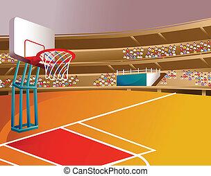 basket-ball, stade