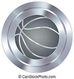 basket-ball, sur, industriel, bouton