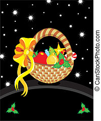 Basket Christmas Toy Card