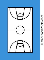 basket court draw illustration