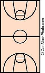 basket court illustration