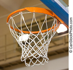 Basket for game in basketball