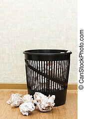 Basket for garbage In a room