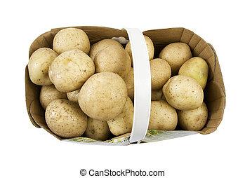 basket full of farm fresh potatoes