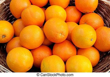Basket full of oranges
