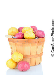 Basket Full of Red and White Potatoes