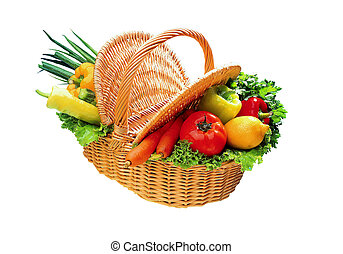 Basket full of vegetables.