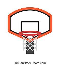 Basket icon. Basketball design. Vector graphic