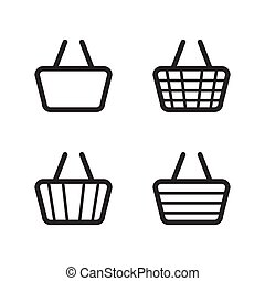basket icon design Christmas background or Christmas elements isolate on white background vector