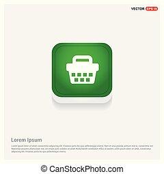 basket icon Green Web Button