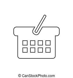Basket icon illustration
