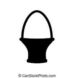 Basket illustration silhouette